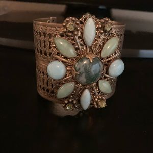 Jewelry - Jan Michaels Free People turquoise bronzed cuff